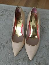Ted Baker Nude Patent Leather Shoes Stilettos Size 6 / 39