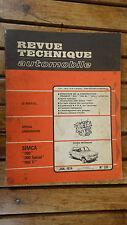 REVUE TECHNIQUE N°331 JANVIER 1974 SIMCA 1100 - PEUGEOT 504