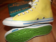 SUPER DRY WOMENS CANVAS HIGH TOP SHOES 6UK (ORIGINAL)