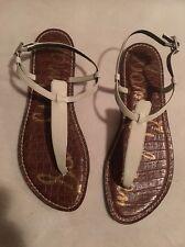 Sam Edelman Gigi White patent  leather Thong Summer Sandals Size 9.5 new