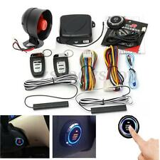 Car Smart Passive Keyless Entry Alarm System Push Button & Remote Control Start
