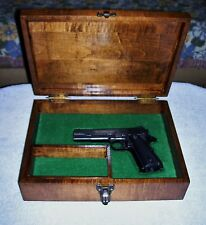 SAVE $30-- --PISTOL GUN PRESENTATION CASE WOOD BOX 1911 COLT STYLE HAND CRAFTED