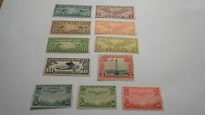 SC# C7-C22 Lot Of 11 U.S. Air Mail Stamp Singles MNH OG (1MH) Incomplete Run