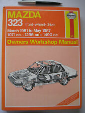 MAZDA 323,1981 to 1987 Front Wheel Drive, OWNERS WORKSHOP  REPAIR MANUAL