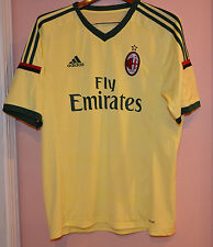 Adidas ACM 1899 AC Milan Fly Emirates Yellow Green Jersey Shirt Mens Climacool L