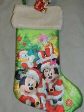 DISNEY MICKEY MOUSE SILKY CHRISTMAS STOCKING NEW!