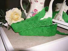 Mercerie Broderie★Dentelle anglaisee Lace 4 cm ★ Au métré Couture Vert foncé