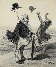 Cham de Noe, Amedee (French 1818-1879)  Lithograph Avantage du Chapeau