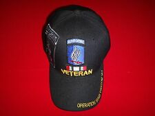 173rd AIRBORNE Bde VETERAN OPERATION IRAQI FREEDOM Hat Velcro Back *Never Worn*