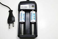CHARGEUR RS08 + 2 BATTERIE PILE 16340 CR123 2800mAh RECHARGEABLE 3.7V ION ACCU