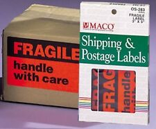 Box of 40 3x5 Inch Peel & Stick FRAGILE LABELS