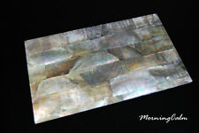 Black Mother of Pearl Veneer Sheet (MOP Shell Inlay Overlay Nacre Luthier Lure)