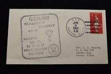 NAVAL SPACE COVER 1965 GEMINI GT-4 RECOVERY SHIP USS HAWKINS (DD-873) (758)