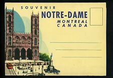 Postcard Folder Canada Montreal Notre Dame Church Map