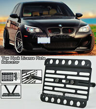 For 05-10 BMW E60 M5 Only Front Bumper Tow Hook License Plate Bracket Relocator