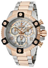 New Mens Invicta 13716 Arsenal Chronograh MOP Dial Two Tone SS Swiss Made Watch