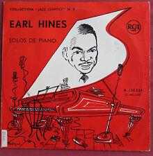 """EARL HINES 25 CM 10""""  LP ORIG FR  SOLOS DE PIANO"""