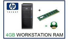 4GB (1x4GB) DDR3 ECC UDIMM Memoria RAM upgrade HP Z200 Z400 y Z600 Workstation