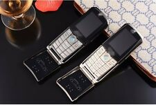 760 silver fashion Unlock cell phone Quad Band Dual SIM luxury car model phone