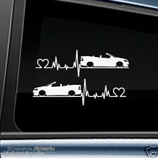 (404) 2x Fun Sticker Aufkleber Herzschlag Opel Astra G Cabrio Opc Stickerbomb