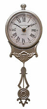 Shabby Chic Vintage Chrome Pendulum Wall Clock New french brushed chrome NEW