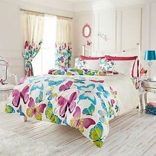 MODERN STYLE FASHION BUTTERFLY SINGLE DUVET COVER SET NEW