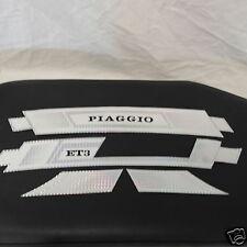 Serie Fregi Adesivi Sacche e Parafango Piaggio Vespa ET3 BIANCO Cromo PIAGGIO