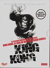 LA TRILOGÍA ORIGINAL DEL GRAN GORILA: KING KONG, EL HIJO D KONG Y EL GRAN GORILA