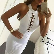 New Women's Casual BodyCon Summer Short Sleeve Evening Party Cocktail Mini Dress