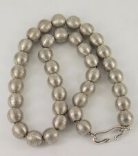 Vintage Sigi Pineda Modernist Taxco Mexico Sterling Silver .925 Beaded Necklace