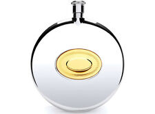 Jean Pierre 6oz Round Steel Flask with Free Engraving (D2)
