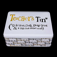 Teacher's Tin Great Gift Ideas For Teachers For Birthdays & End of Term