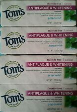 4 Pack Tom's of Maine Natural Antiplaque Tartar Control Whitening Toothpaste 1OZ