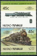 1909 ATSF Class 1398 No.1301 4-4-6-2 (Santa Fe Railway) Train Stamps / LOCO 100