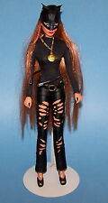 "Batman Customized Wonder Woman 13"" Doll Dressed Catwoman Mego"