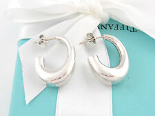 TIFFANY & CO SILVER J HOOP EARRINGS BOX INCLUDED