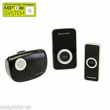 Lloytron B7506BK Wireless Musical Door Bell with 2 Chimes - 1 Plug In/1 Portable
