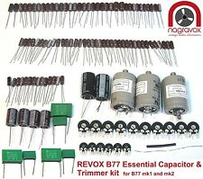 Revox B77 Mk1 & Mk2 universal tape recorder capacitor & preset pot upgrade kit