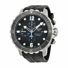 New! Tissot Seastar Chronograph Automatic Rubber Men's Watch T0664271705702