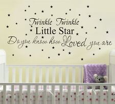 Wall Quote Home Kid Decor Vinyl Decal Sticker Twinkle Twinkle Little Star DIY