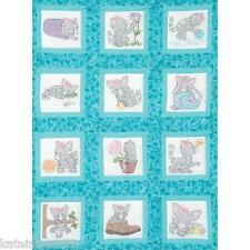 """Jack Dempsey Stamped 9""""x 9"""" 'KITTENS' Quilt Blocks To Hand Embroider"""