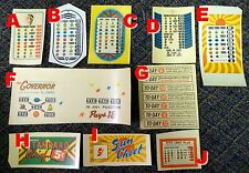 Jennings Slot Machine Reproduction Payout Award Card, Standard Sun Chief