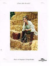 PUBLICITE ADVERTISING 074  1991  LONGCHAMP    sacs & bagages
