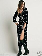 NEW Free People black white embroidered Lily Of The Valley Maxi Dress S $168