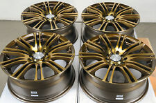 "16"" Bronze Effect Wheels Rims 5 lugs Scion TC Xd Forester Impreza Corolla Civic"