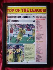 Rotherham United 1 MK Dons 4 - 2015 - framed print