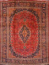 "Great Deal Floral Red Wool 10x13 Mashad Persian Oriental Area Rug 12' 9"" x 9' 6"""