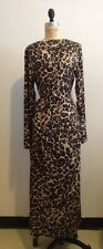 Tamara Mellon Leopard Silk Long Dress Sz 8 NWT (Jimmy Choo Founder)