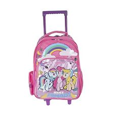 My Little Pony Pink Glitter Wheeled Trolley Rucksack Travel Luggage Bag