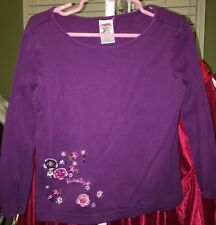 Gymboree Vintage PRETTY IN PLUM EUC 4 Purple flower button 'Romantique' top !!